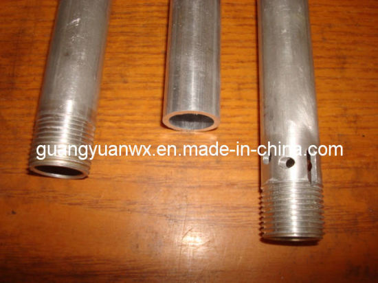 6060 6063 6061 Aluminum Machined Pipe with Thread and Hole