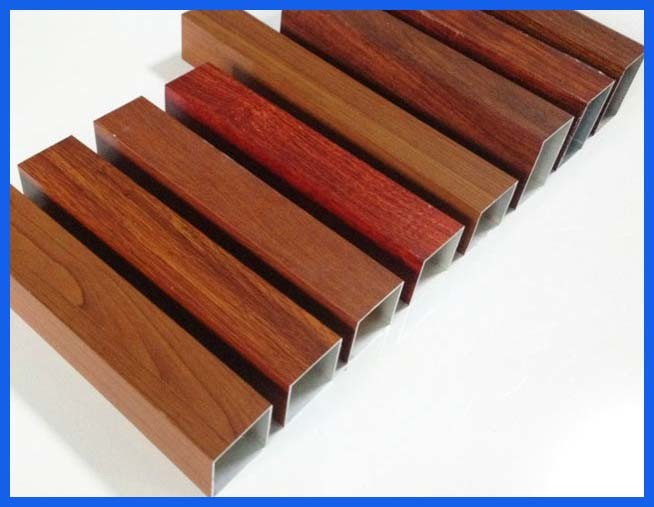 drawn wood grain octagonal aluminum tube
