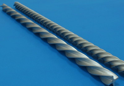 externally threaded aluminum tube flatten